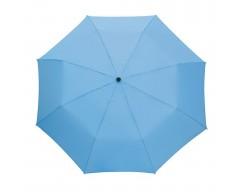 Зонт полуавтоматический складной голубой