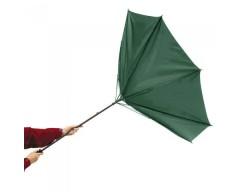"""Зонт-трость с ветроустойчивым каркасом """"Tornado"""" темно-зеленый"""