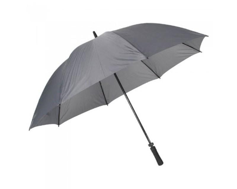 """Зонт-трость с ветроустойчивым каркасом """"Tornado"""" серый"""