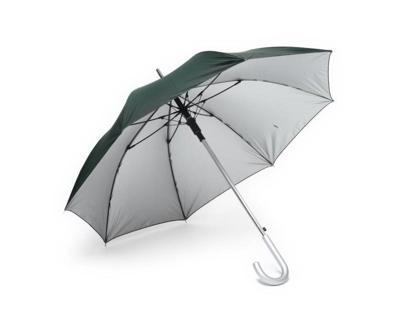 Зонт-трость с автоматическим открытием зеленый