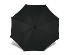 Зонт-трость с деревянной ручкой и автоматическим открытием черный