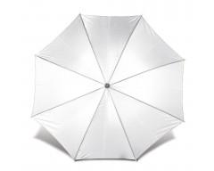 Зонт-трость с деревянной ручкой и автоматическим открытием белый