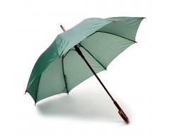 Зонт-трость с деревянной ручкой и автоматическим открытием зеленый