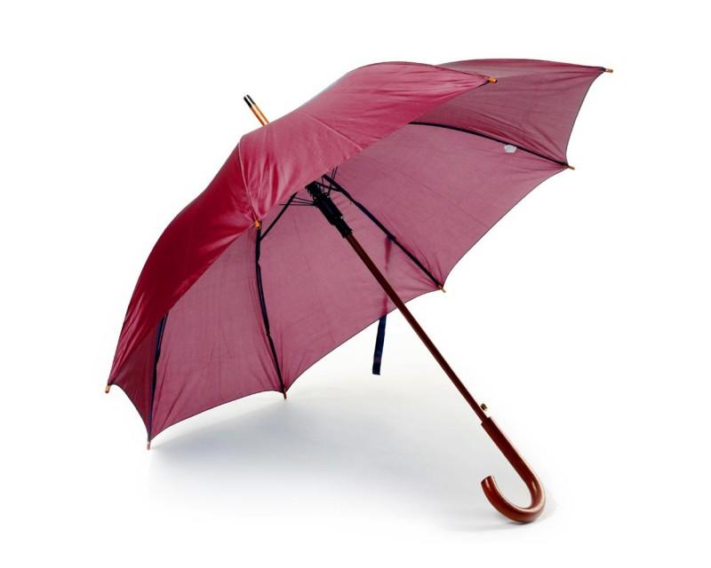 Зонт-трость бордовый