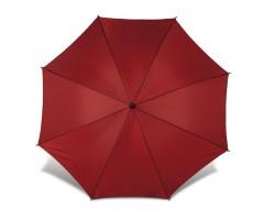 Зонт-трость с деревянной ручкой и автоматическим открытием, бордовый