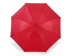 Зонт-трость с изогнутой ручкой и автоматическим открытием, красный