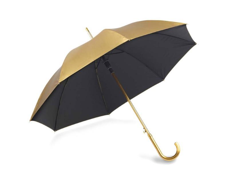 Зонт-трость золотой