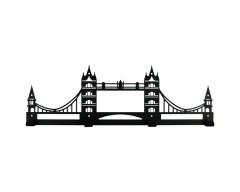 Вешалка настенная Tower Bridge черная