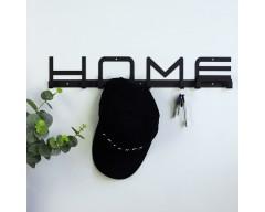 Вешалка настенная Home черная