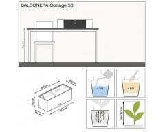 Кашпо Balconera Cottage 50 коричневый