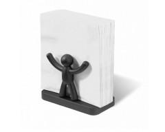 Салфетница, подставка для салфеток Buddy черная