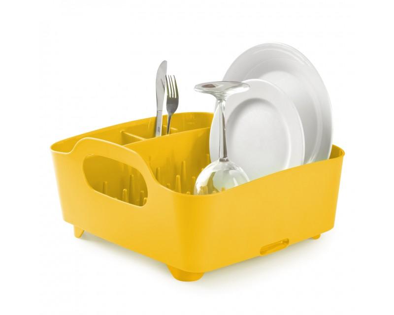 Сушка для посуды Tub желтая