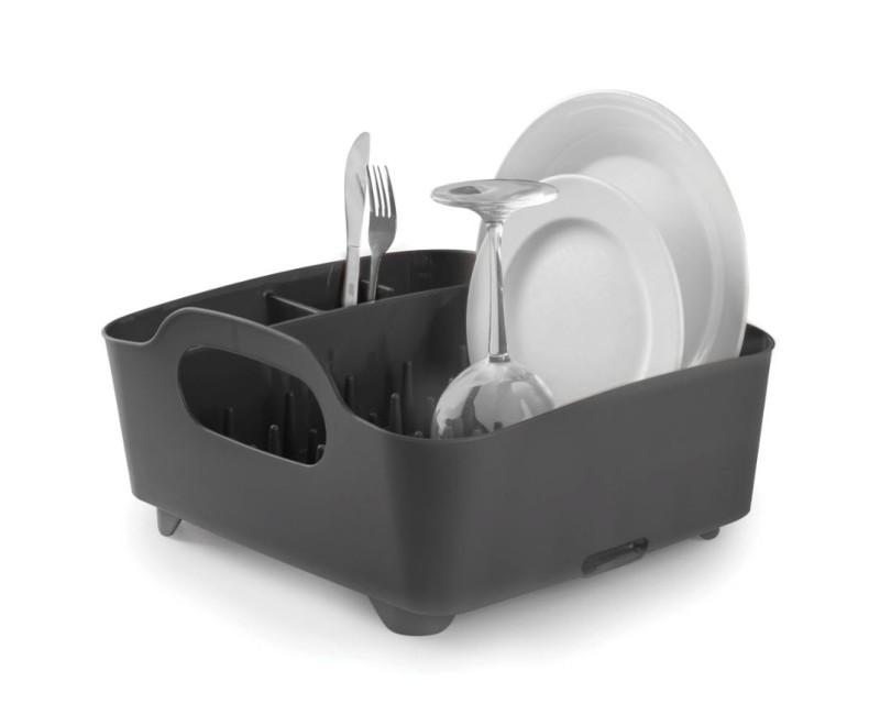 Сушка для посуды Tub черная