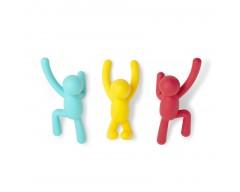 Вешалка для одежды Buddy разноцветные 3 штуки