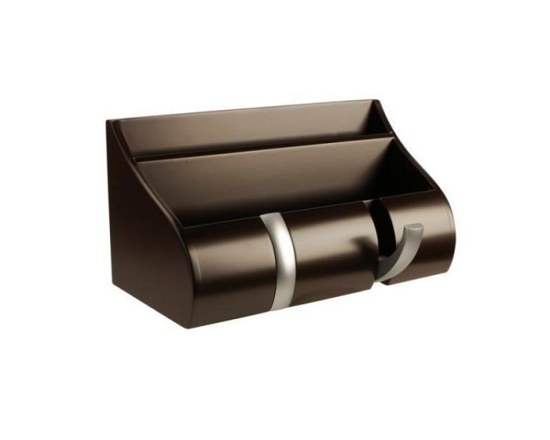Полка-вешалка многофункциональная Cubby коричневая