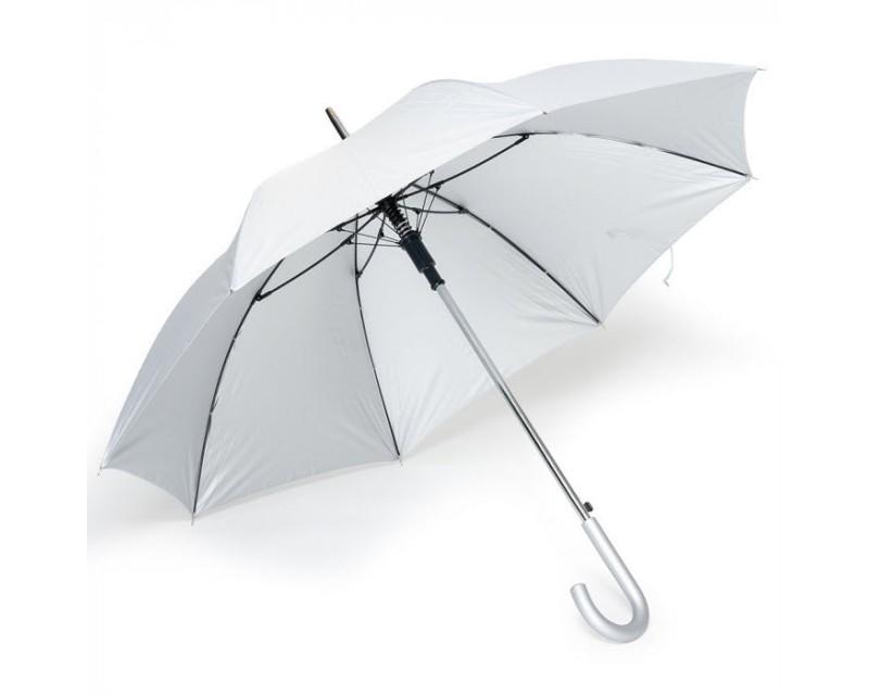 Зонт-трость полуавтомат серебристый